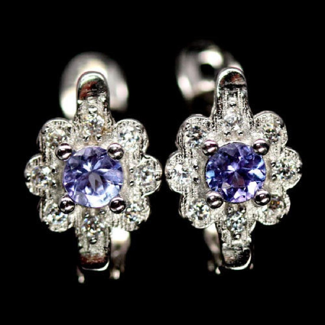 ADORABLE! REAL! BLUE TANZANITE STERLING 925 SILVER