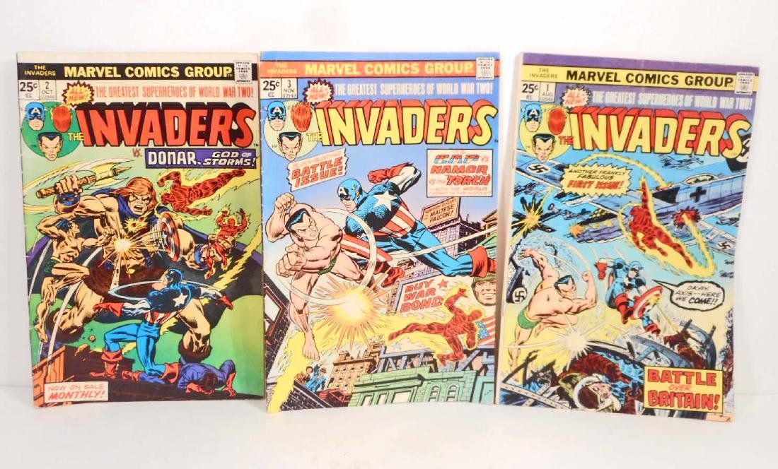 LOT OF 3 VINTAGE 1975 THE INVADERS COMIC BOOKS