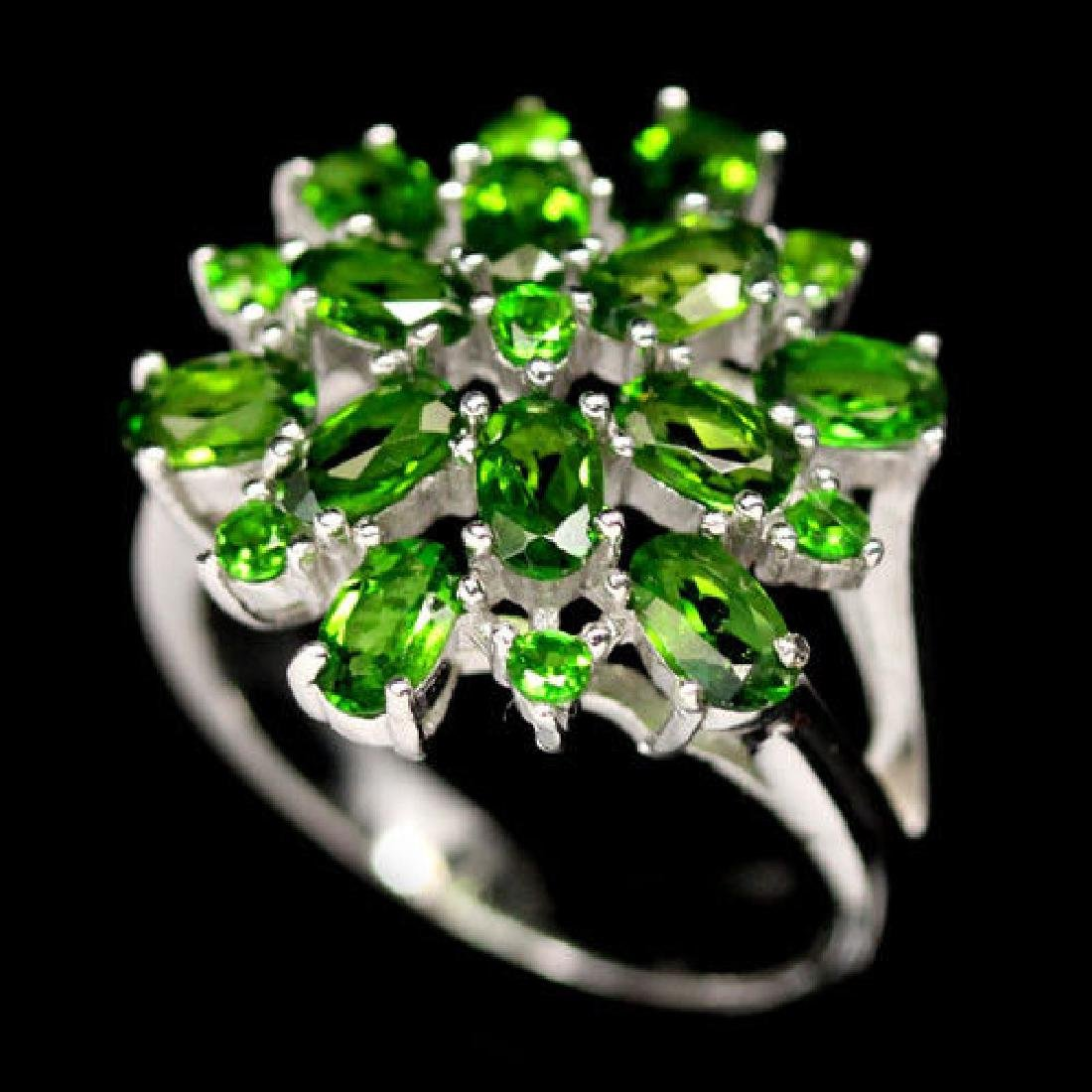 LAMBENT! REAL! CHROME GREEN DIOPSIDE STERLING 925