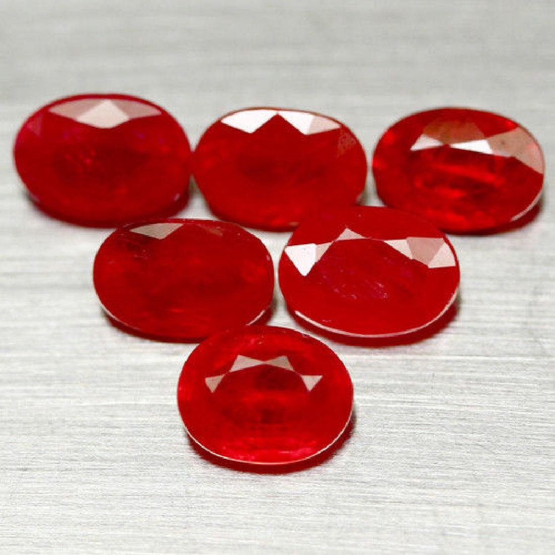 8.74 CT NATURAL HEATED! 9PCS PADPARADSCHA AFRICAN