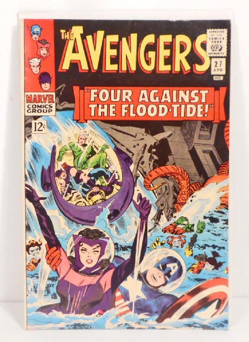 1966 THE AVENGERS ISSUE #27 COMIC BOOK - 12 CENT COVER