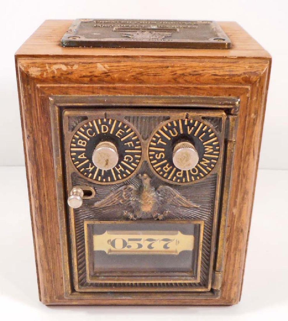 VINTAGE LTD. ED. COIN BANK MADE FROM US POST OFFICE BOX