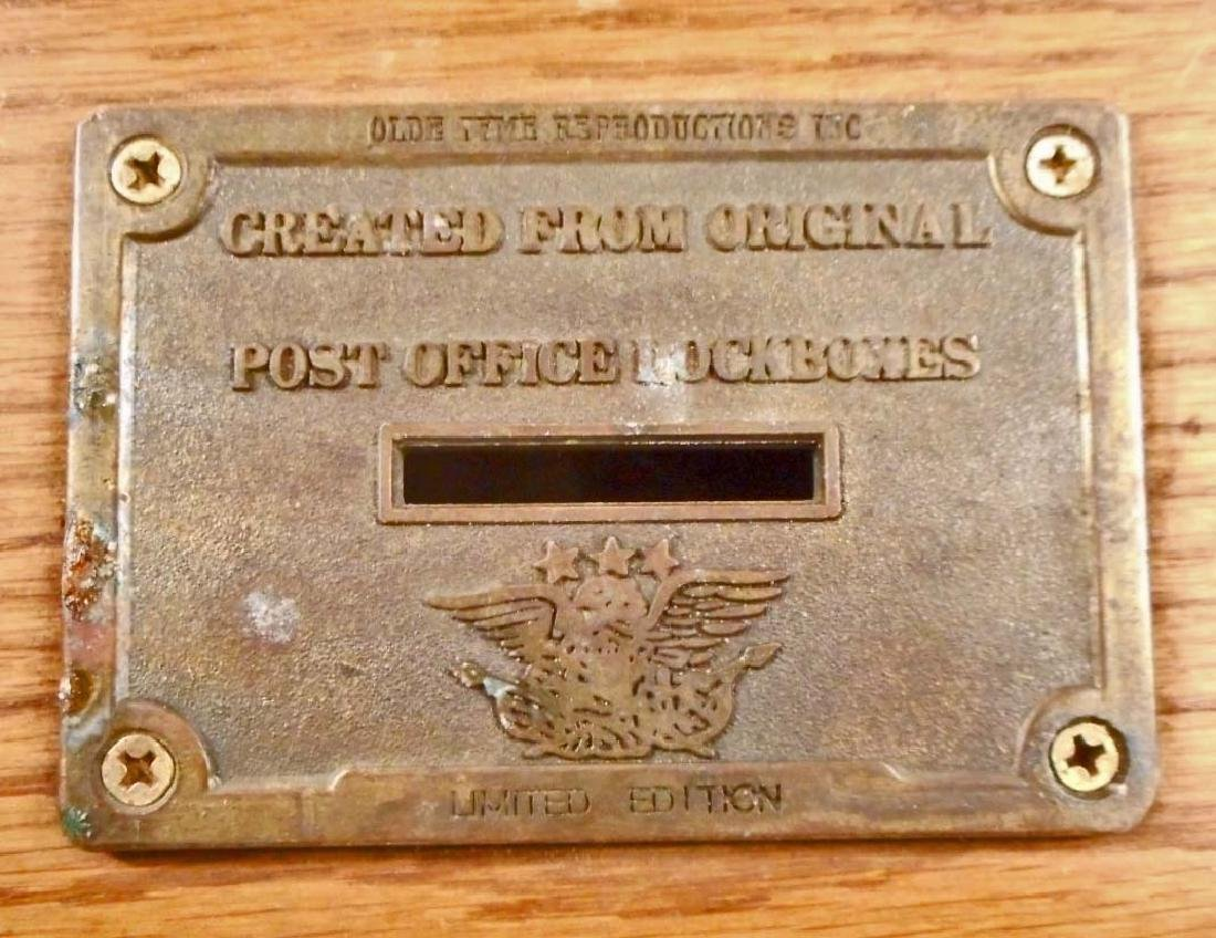 VINTAGE LTD. ED. COIN BANK MADE FROM US POST OFFICE BOX - 2