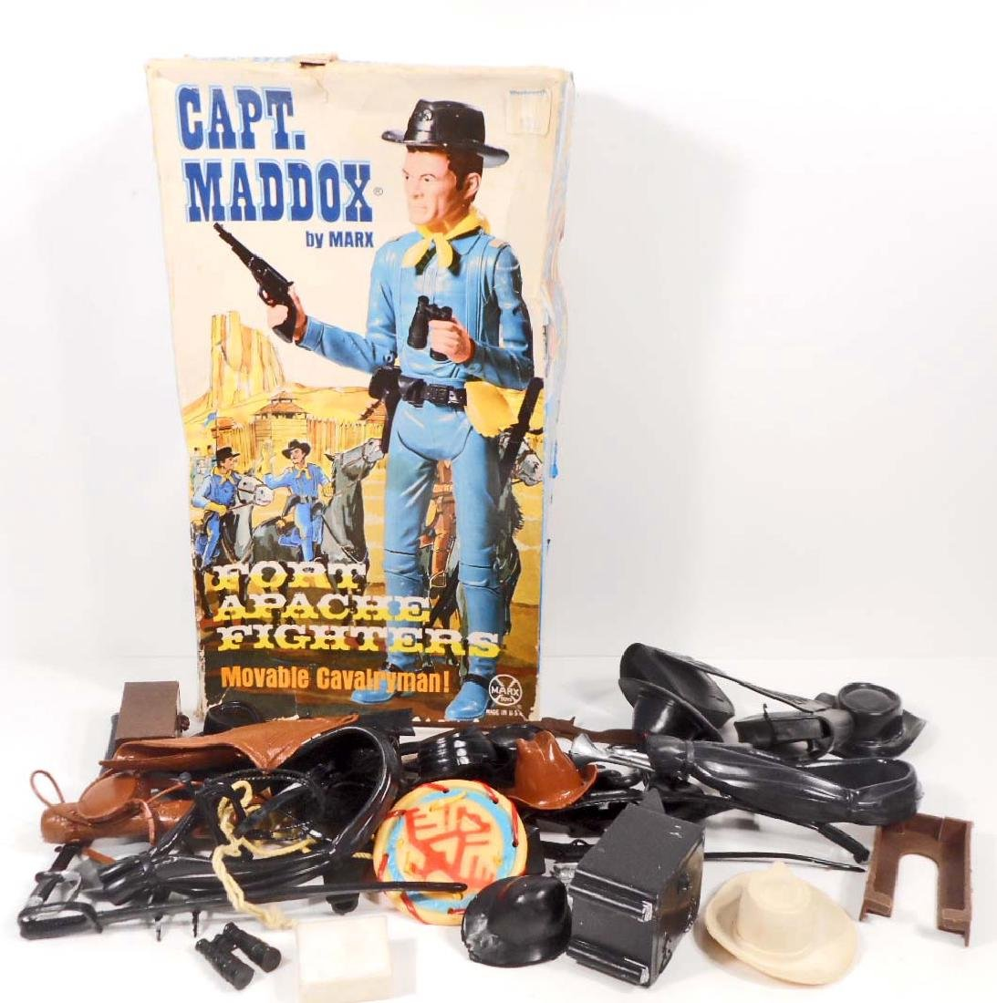 VINTAGE JOHNNY WEST CAPT MADDOX BOX FULL OF ACCESSORIES