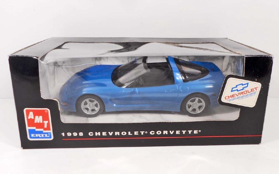 1998 CHEVROLET CORVETTE MODEL TOY CAR TEAL BLUE - MIB