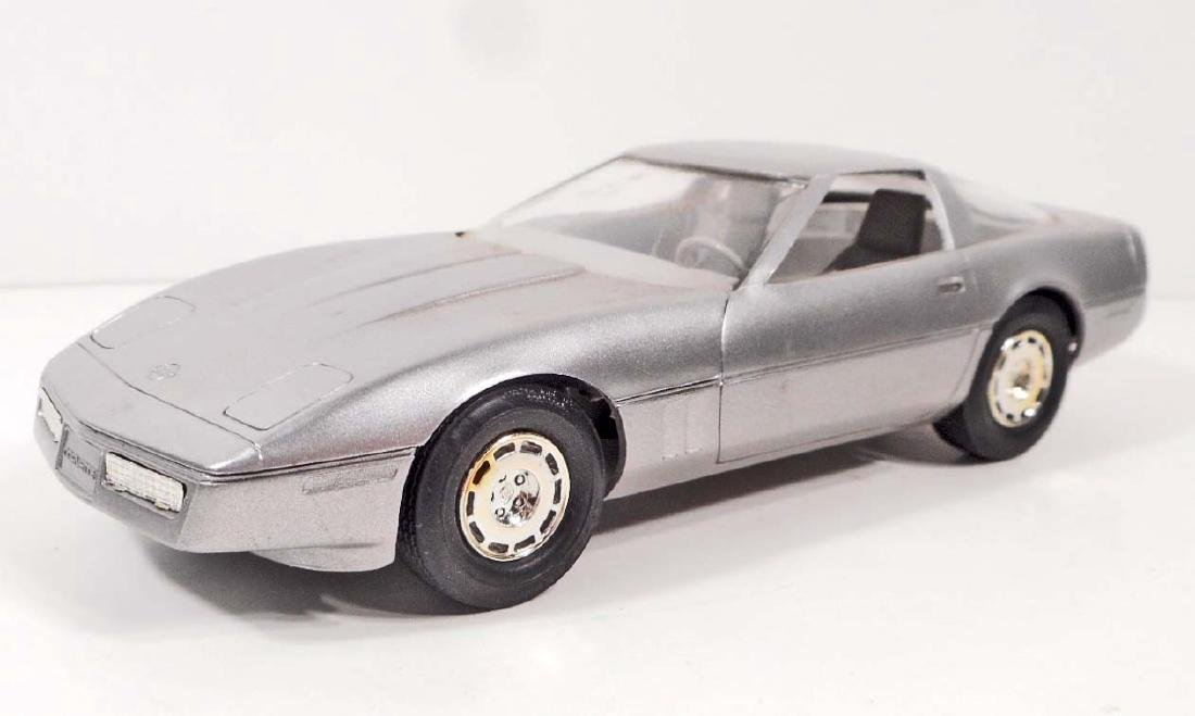 1984 DEALER PROMO TOY CAR CORVETTE SILVER MINT IN BOX