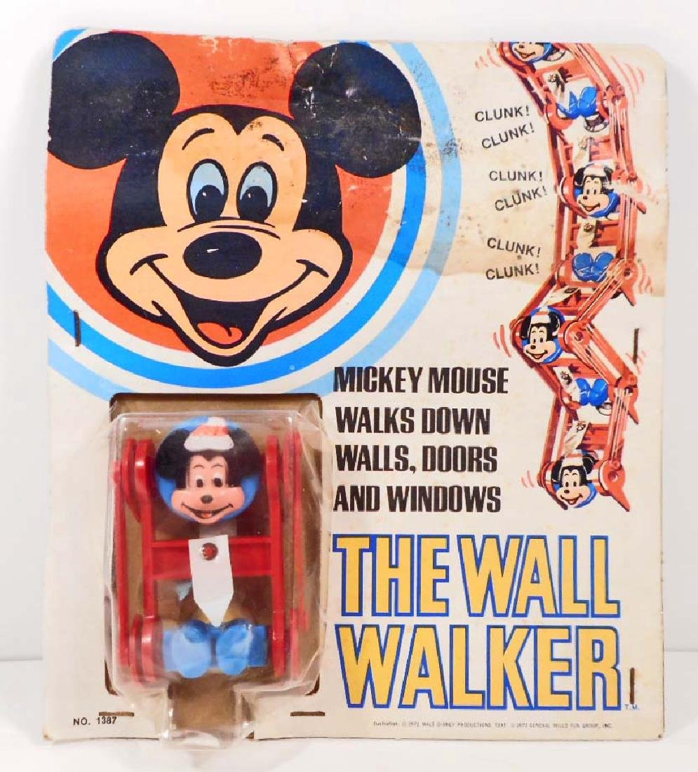VINTAGE DISNEY MICKEY MOUSE WALL WALKER TOY  - UNOPENED