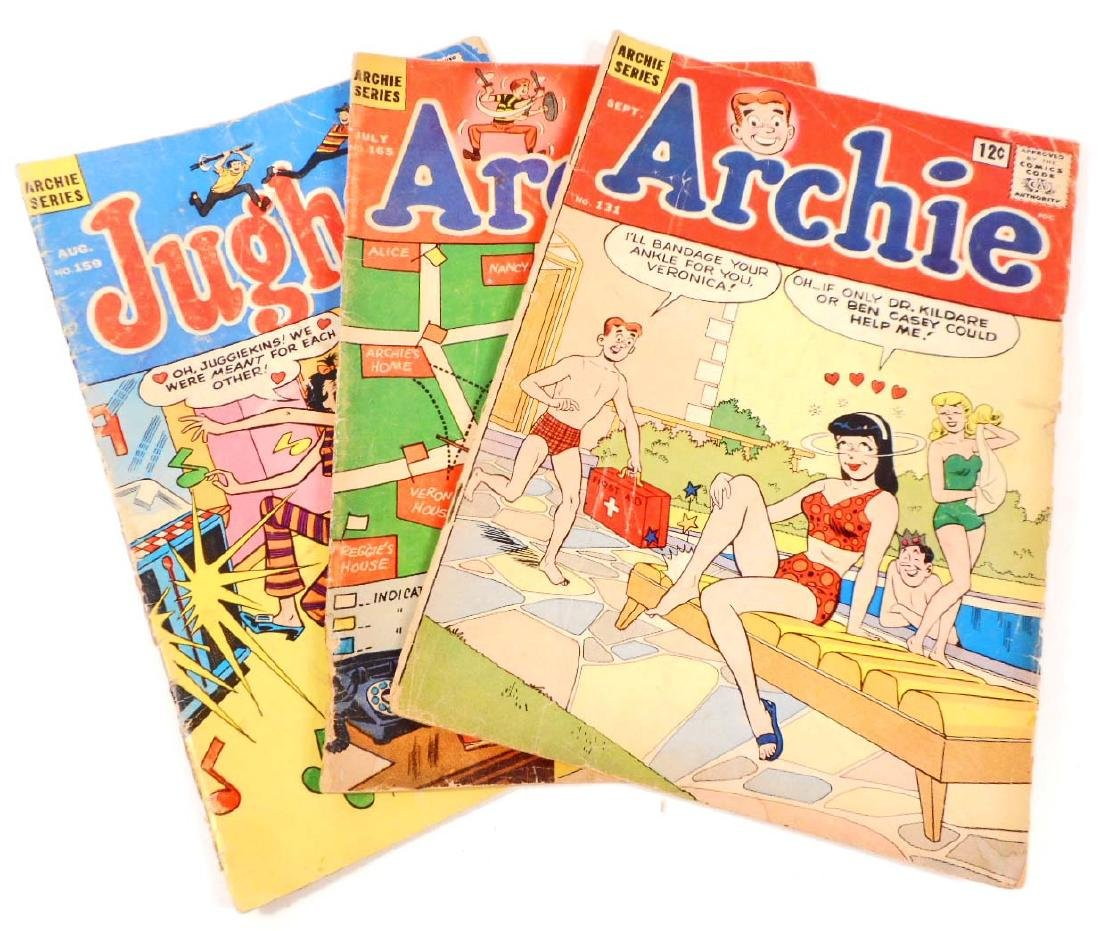 LOT OF 3 VINTAGE COMIC BOOKS - ARCHIES - 12 CENT COVERS