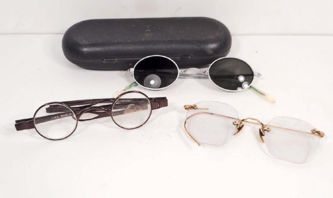 LOT OF 3 VINTAGE PAIRS OF EYEGLASSES