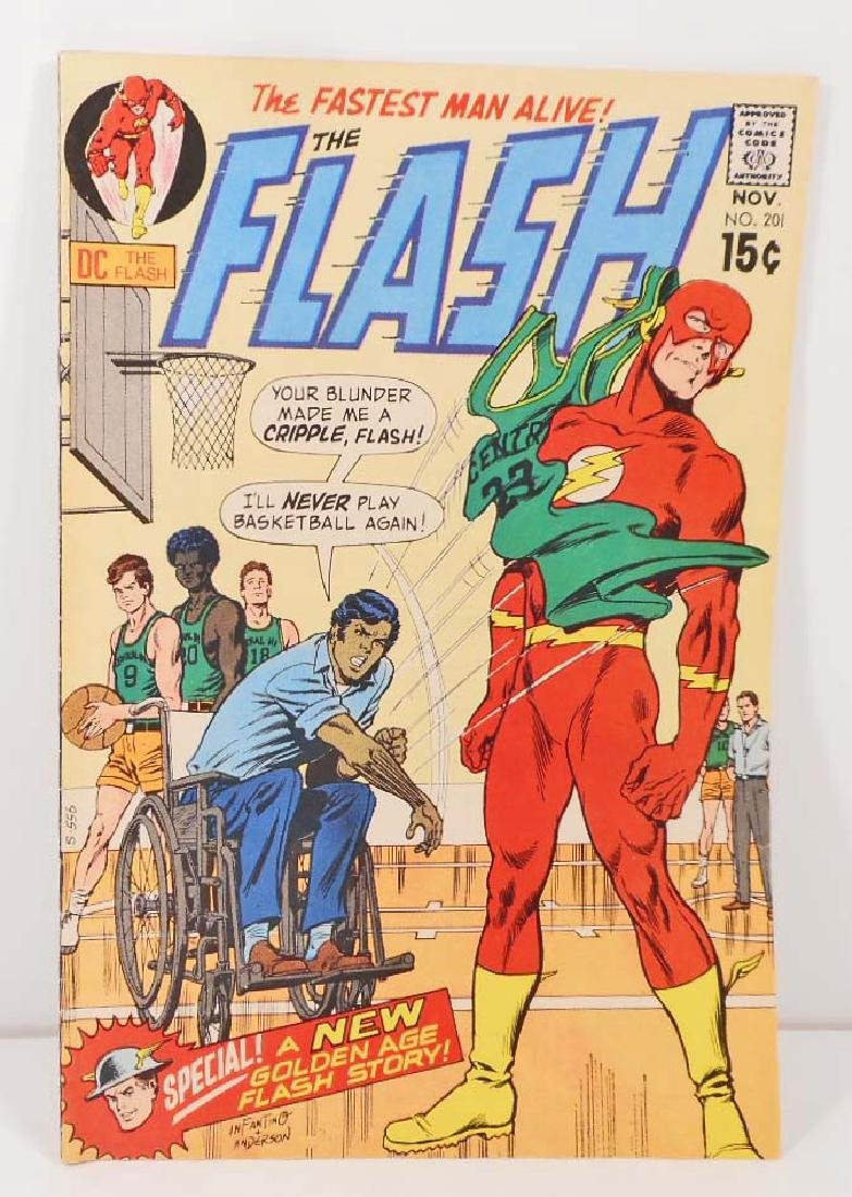 1970 THE FLASH NO. 201 COMIC BOOK W/ 15 CENT COVER
