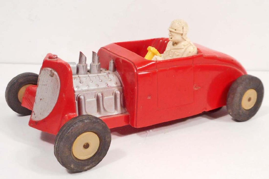 VINTAGE 1950S SAUNDERS FRICTION RACE CAR TOY