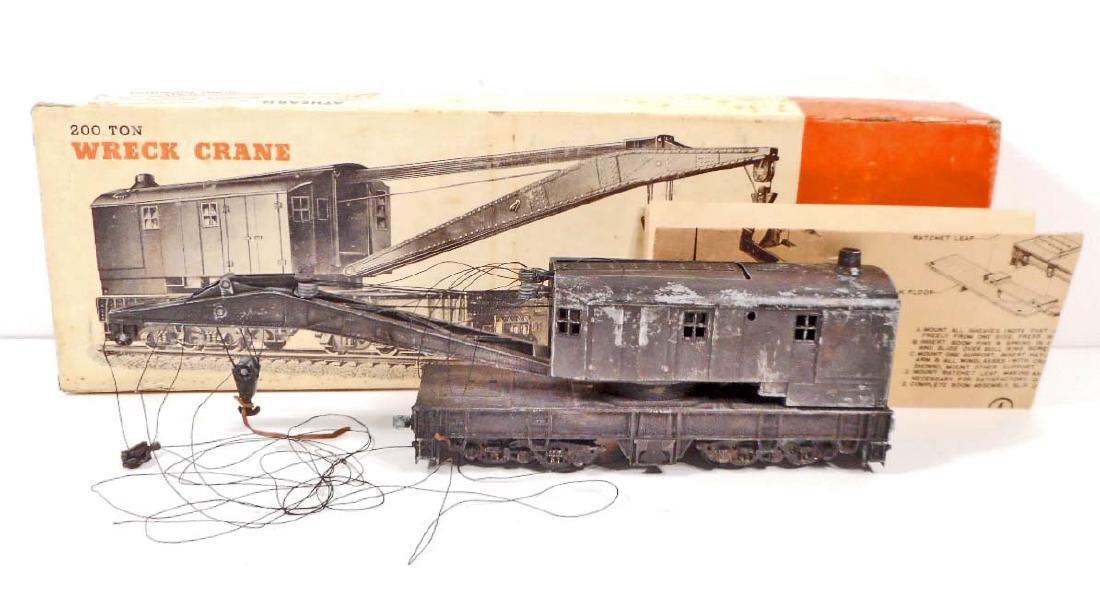 1950S AHEARN 200 TON WRECK CRANE TRAIN CAR IN ORIG BOX