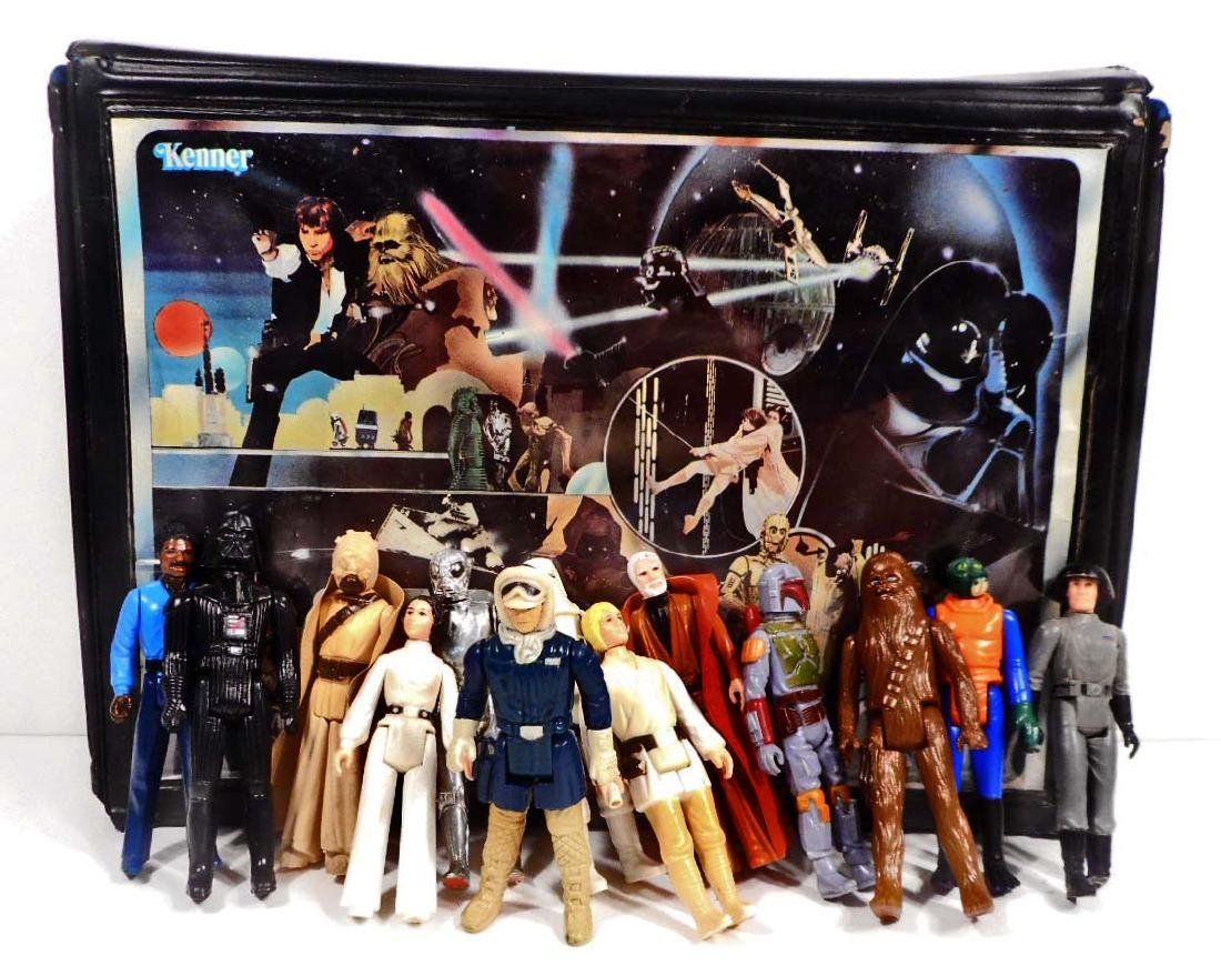 1977-80'S KENNER STAR WARS FIGURES W/ VINYL SPACE CASE