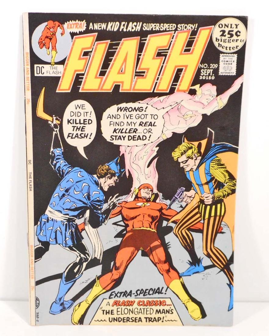 1971 THE FLASH NO. 209 COMIC BOOK W/ 25 CENT COVER
