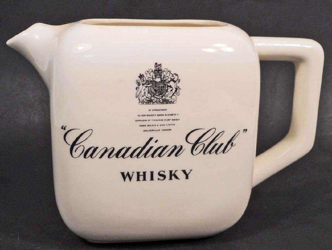 VINTAGE CANADIAN CLUB WHISKY ADVERTISING PITCHER