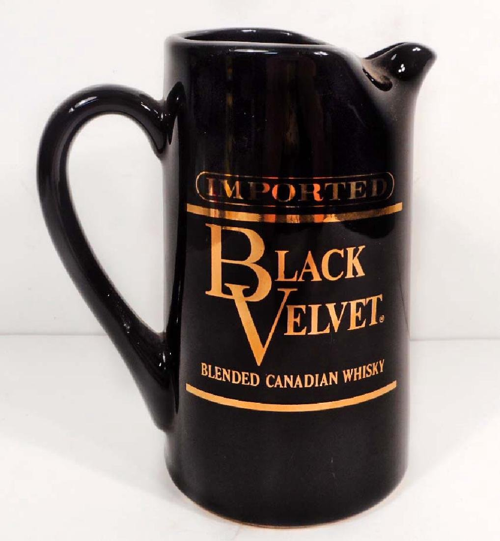 VINTAGE BLACK VELVET WHISKY ADVERTISING PITCHER