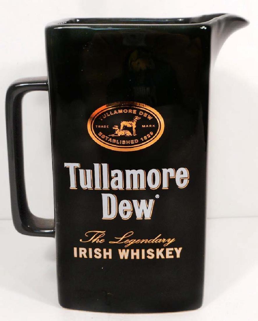 VINTAGE TULLAMORE DEW IRISH WHISKY ADVERTISING PITCHER