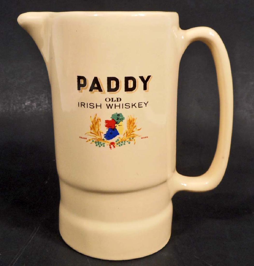 VINTAGE PADDY OLD IRISH WHISKY ADVERTISING PITCHER