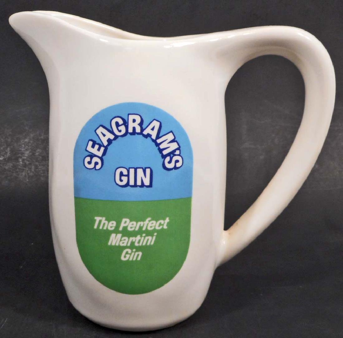 VINTAGE SEAGRAMS GIN ADVERTISING PITCHER