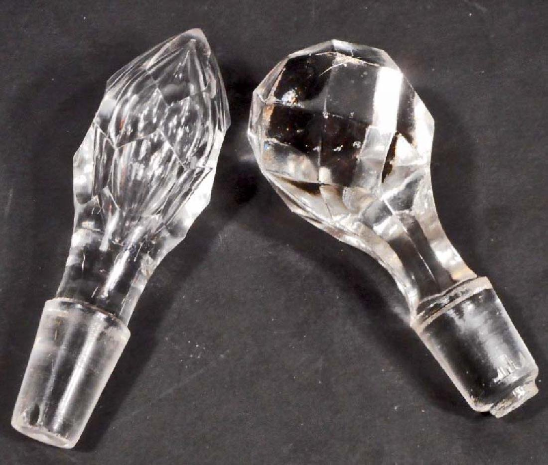 LOT OF 2 VINTAGE CRYSTAL DECANTER STOPPERS