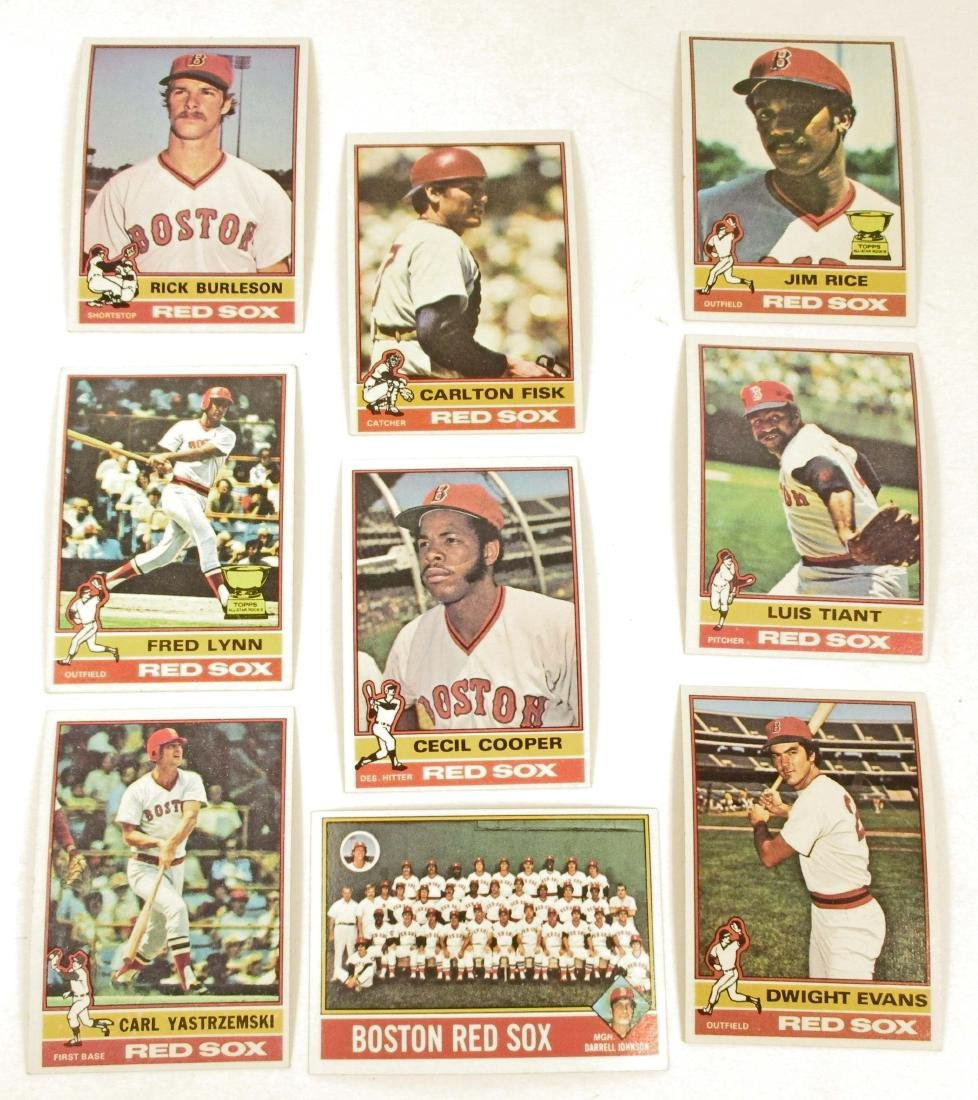 LOT OF 9 VINTAGE 1976 TOPPS BASEBALL CARDS -
