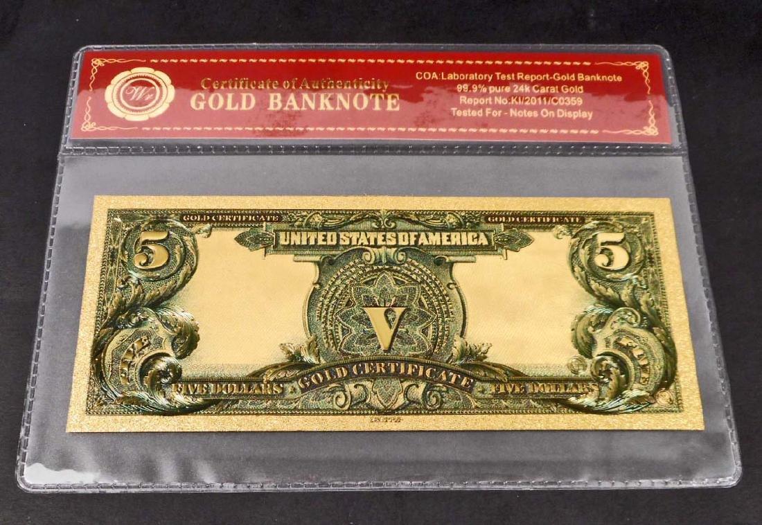 99.9% 24K ONE DOLLAR GOLD BANKNOTE W/COA - 2