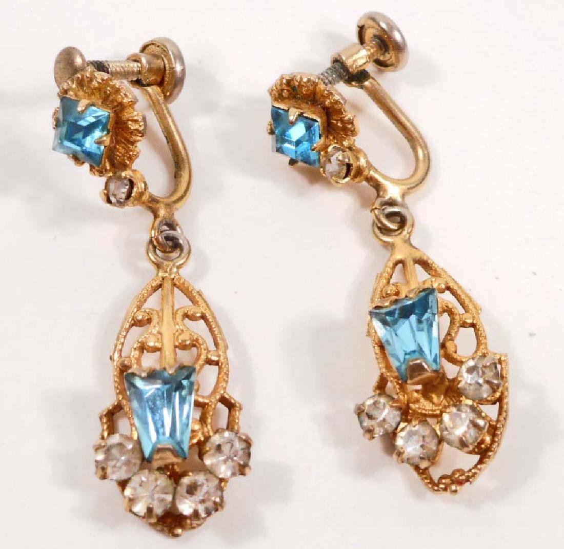 VINTAGE PAIR OF SCITARELLI COSTUME JEWELRY EARRINGS