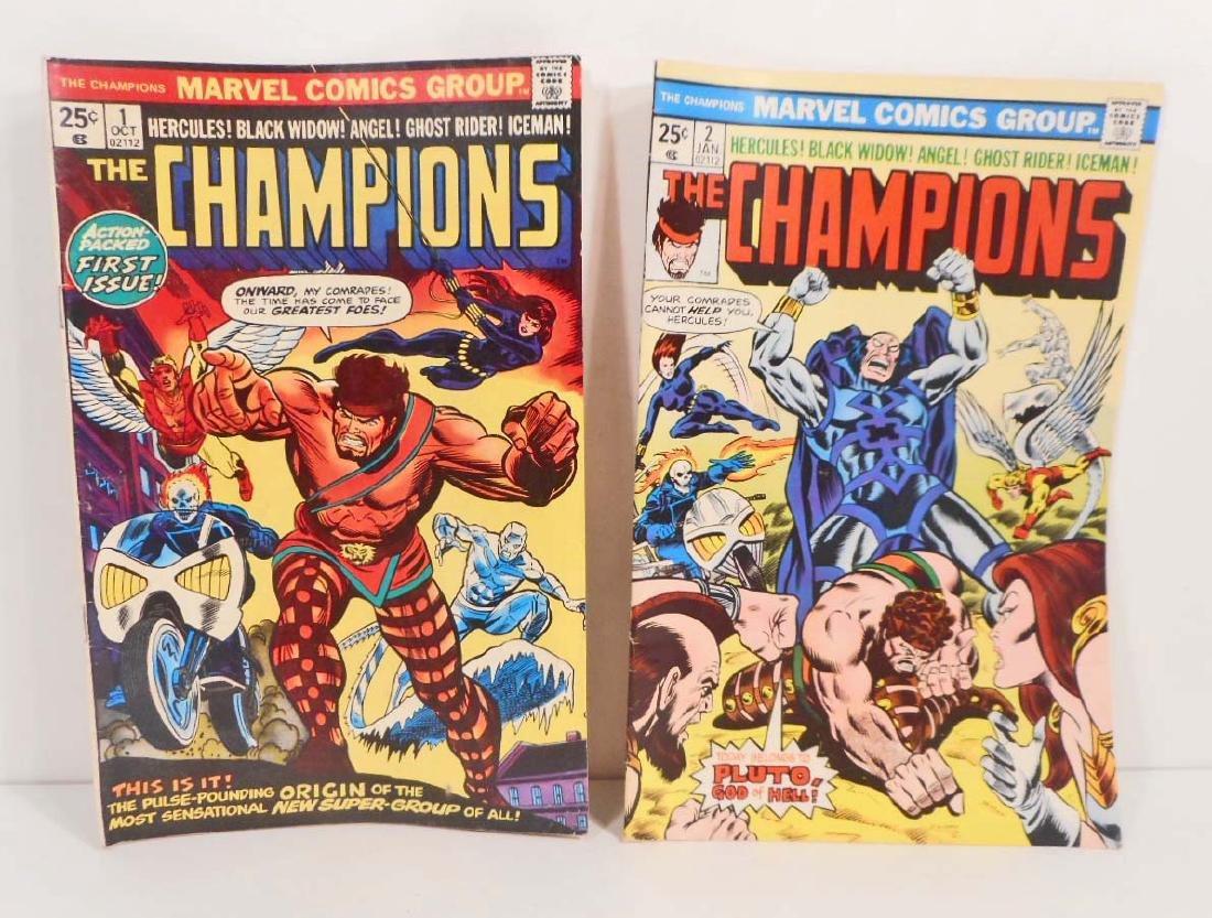 LOT OF 2 1975 THE CHAMPIONS COMIC BOOKS