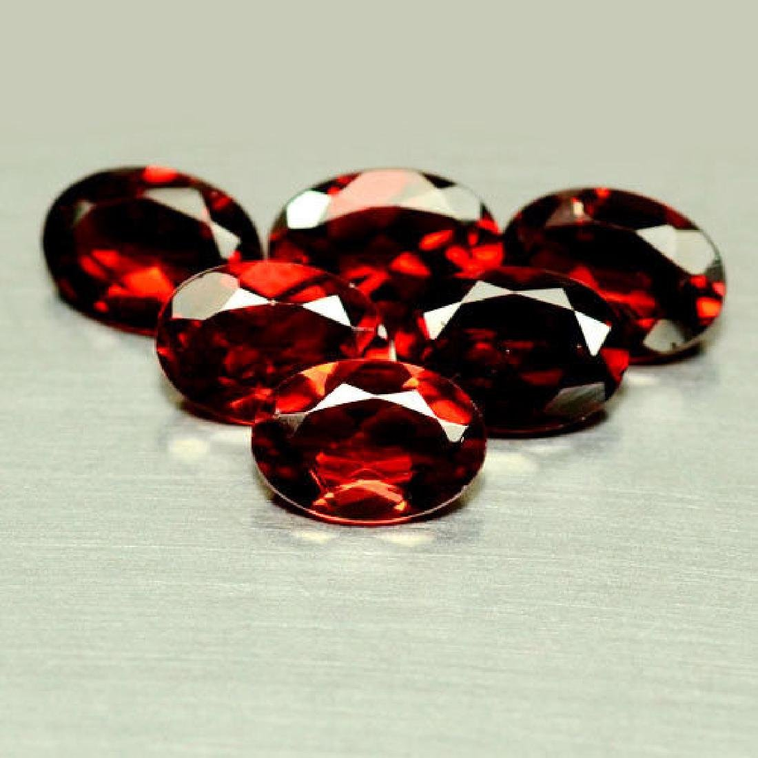8.30 CT NATURAL! 9PCS ORANGE RED MOZAMBIQUE GARNET OVAL