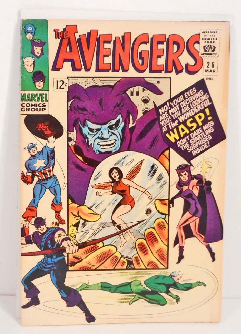 1966 THE AVENGERS ISSUE #26 COMIC BOOK - 12 CENT COVER