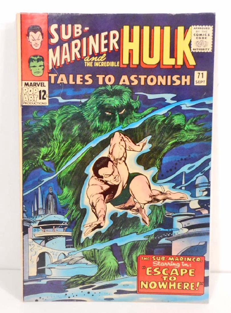 1965 TALES TO ASTONISH ISSUE #71 COMIC BOOK - 12 CENT