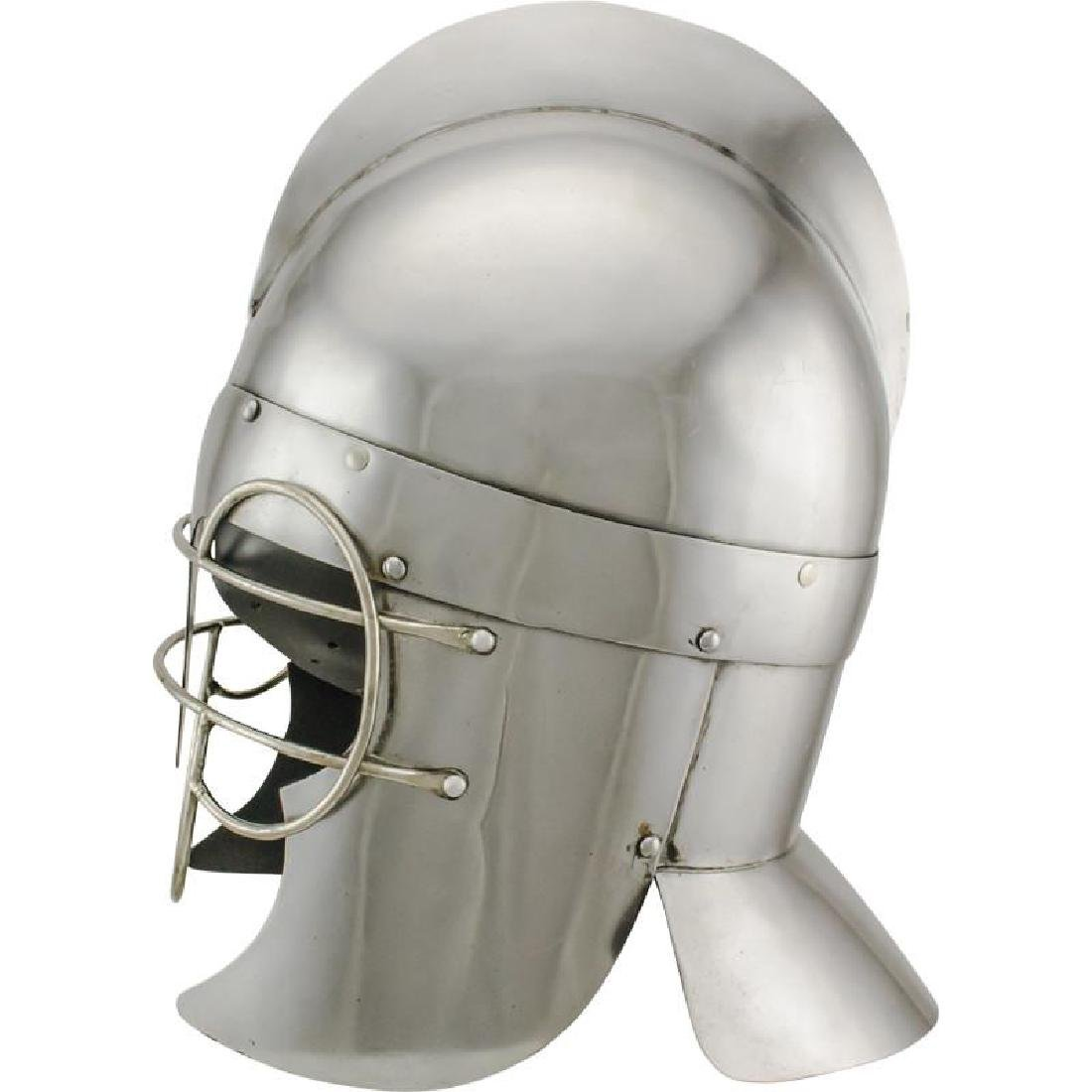 Roman Troopers Wire Guard Carbon Steel Helmet - 2