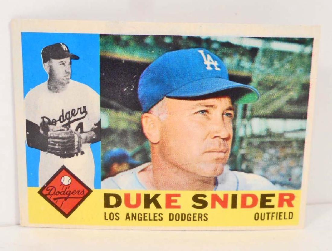1960 Topps Duke Snider No 493 Baseball Card