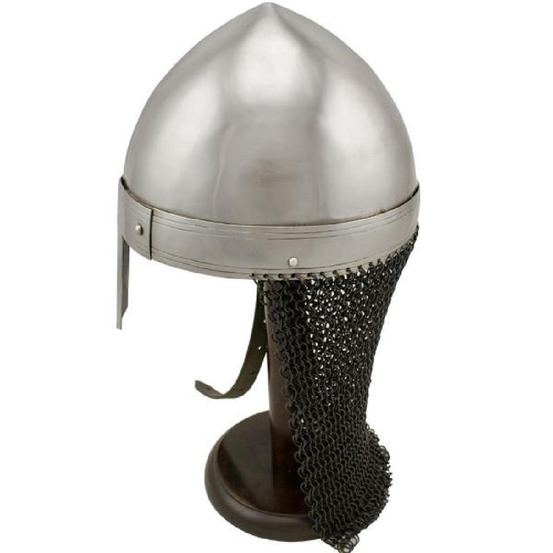 Viking Chainmail Tail Helmet - 2