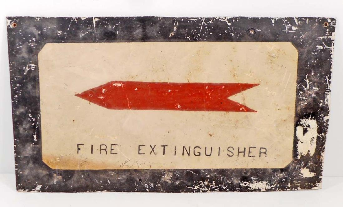 VINTAGE FIRE EXTINGUISHER DOUBLE SIDED SIGN