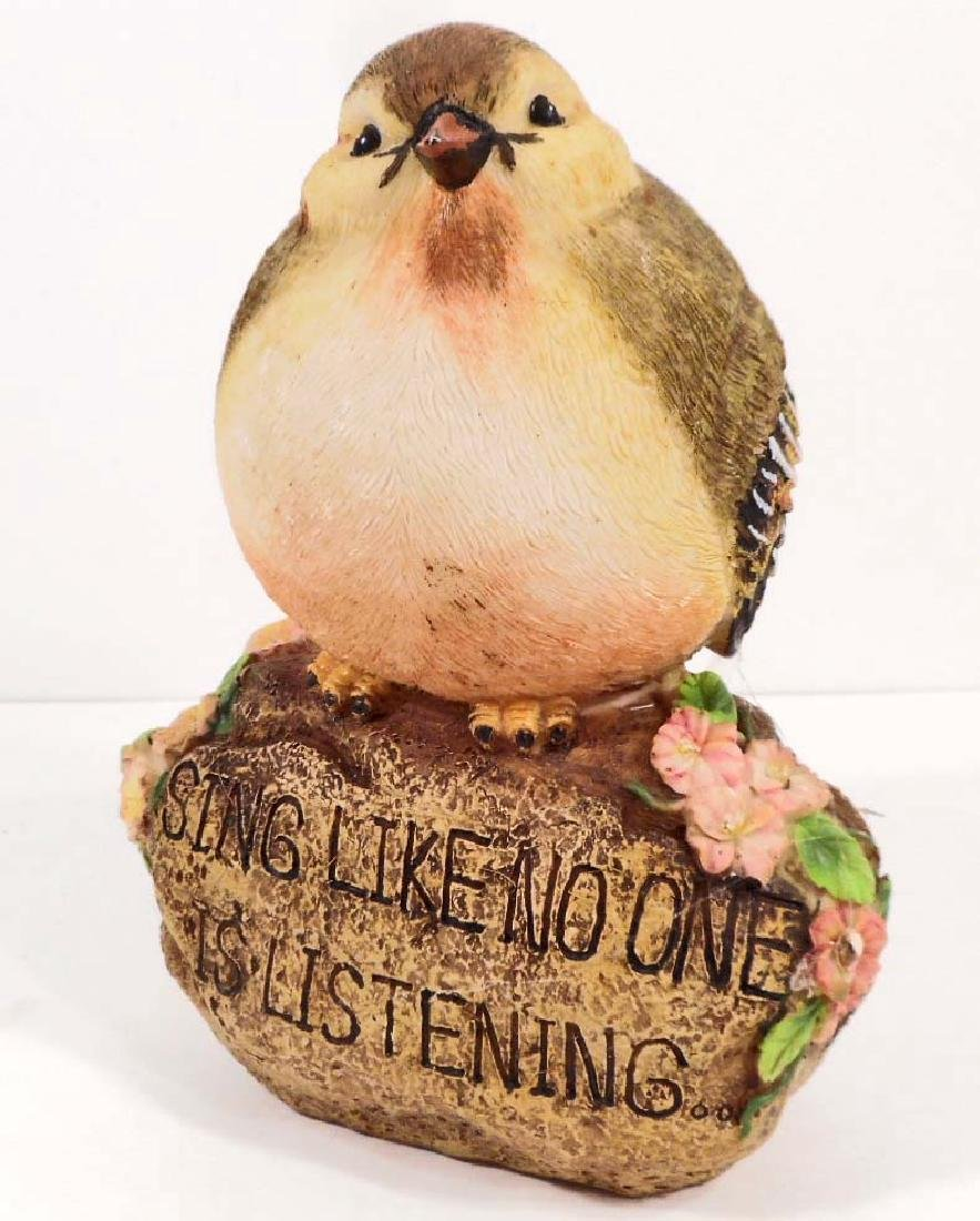 VINTAGE SING LIKE NO ONE IS LISTENING BIRD FIGURINE