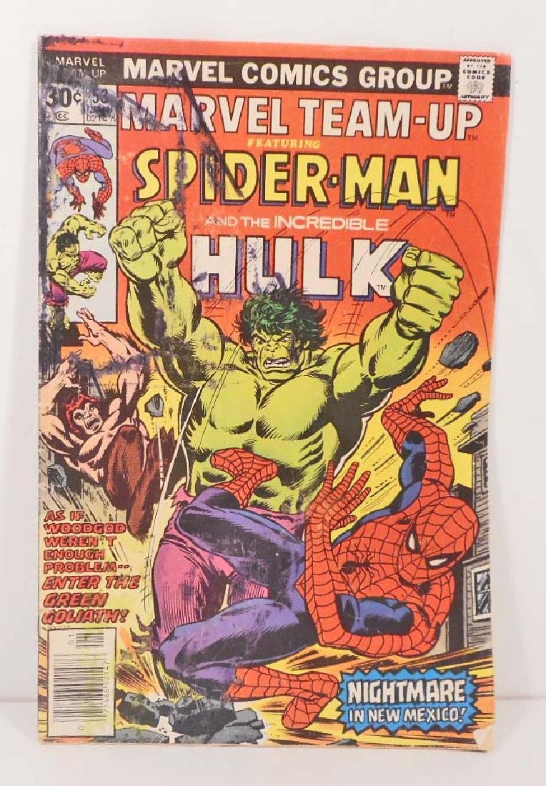 1976 MARVEL TEAM UP NO. 53 SPIDER-MAN COMIC BOOK