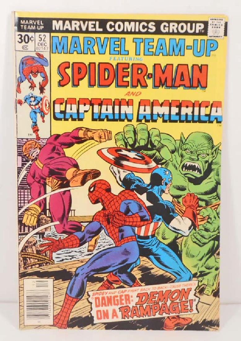 1976 MARVEL TEAM UP NO. 52 SPIDER-MAN COMIC BOOK