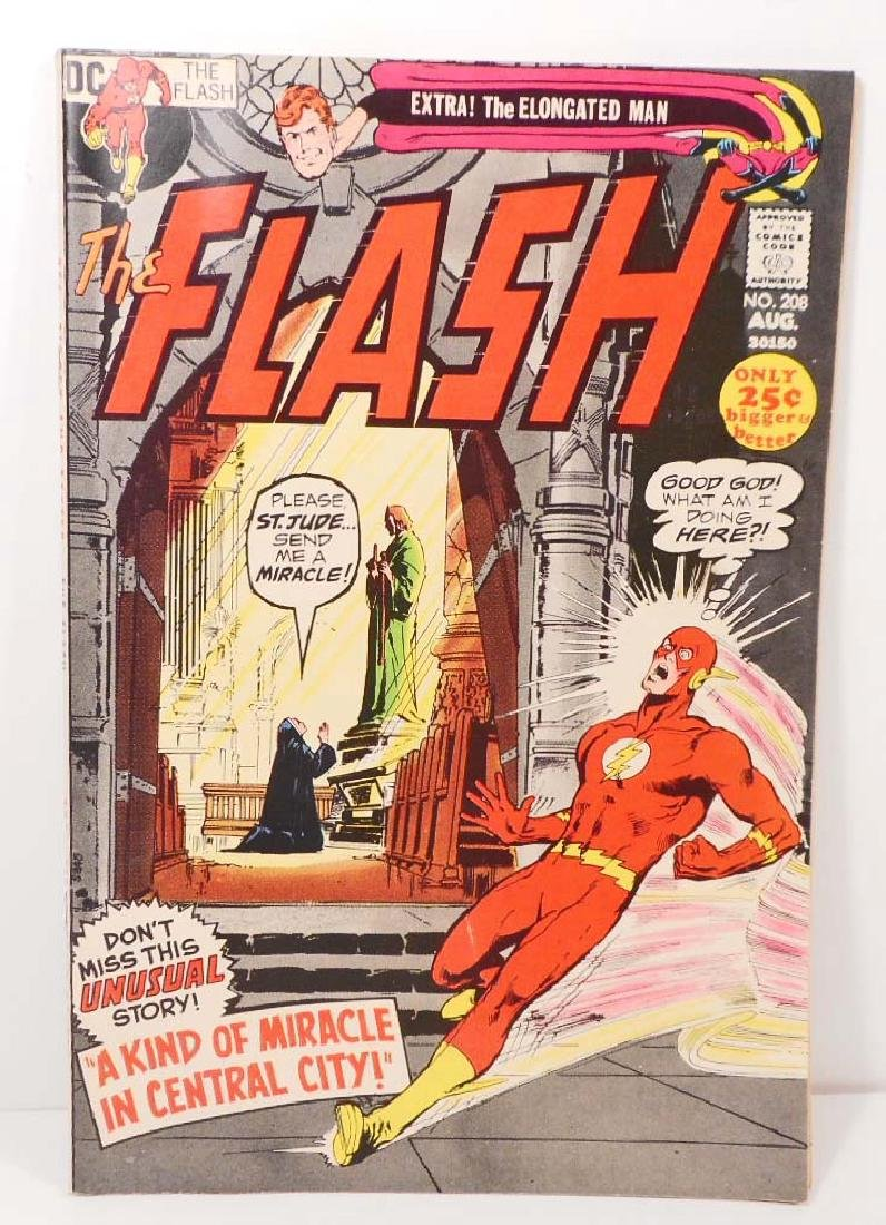 1971 THE FLASH NO. 208 COMIC BOOK W/ 25 CENT COVER