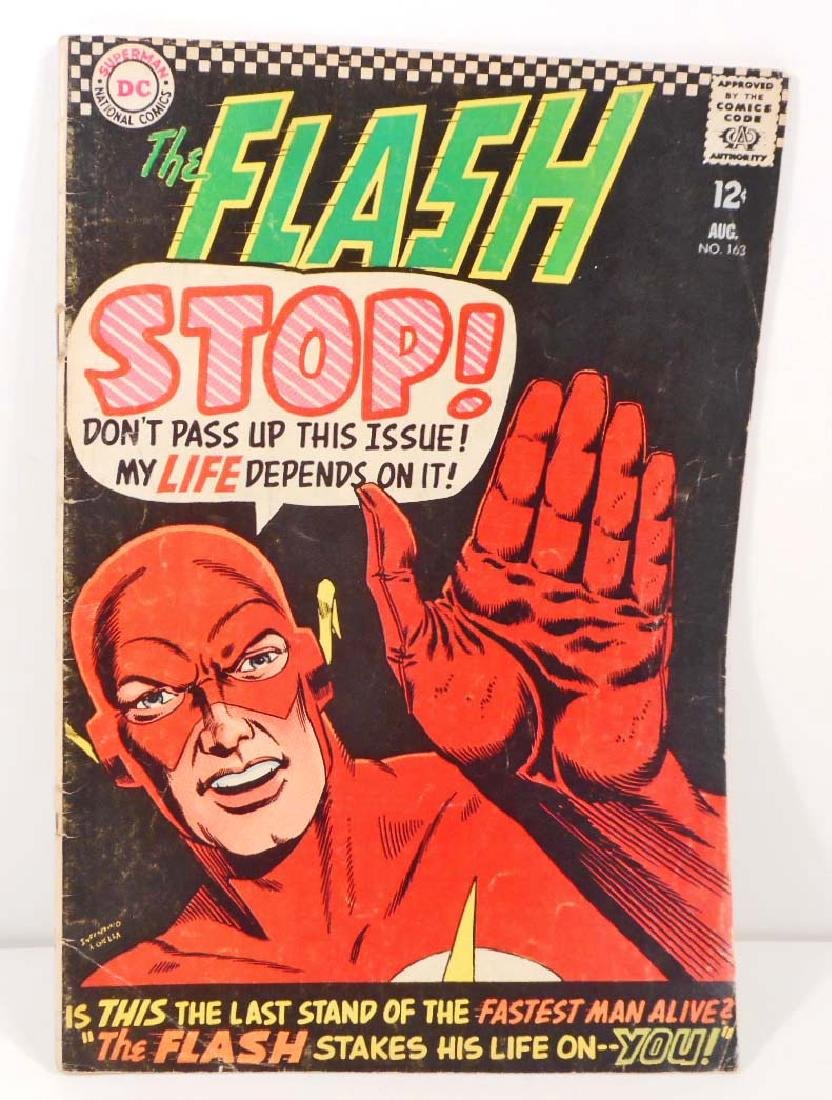 1966 THE FLASH NO. 163 COMIC BOOK W/ 12 CENT COVER