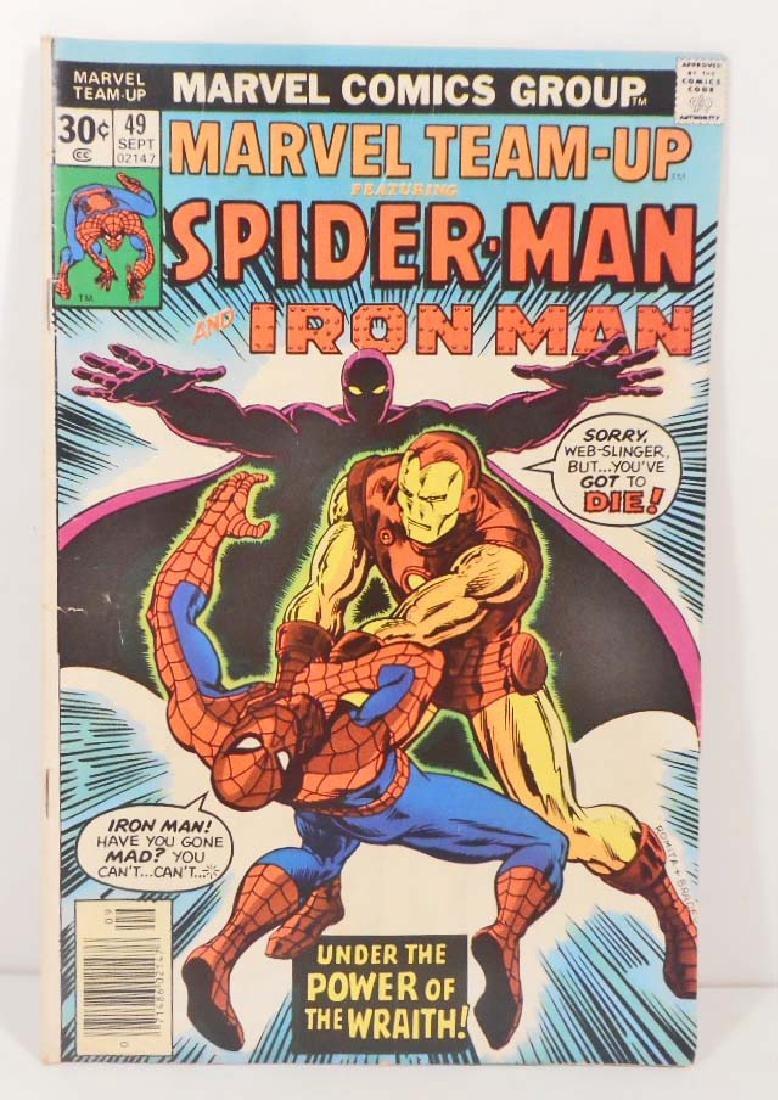 1976 MARVEL TEAM UP NO. 49 SPIDER-MAN COMIC BOOK