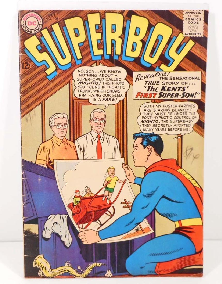 1963 SUPERBOY NO. 108 COMIC BOOK W/ 12 CENT COVER