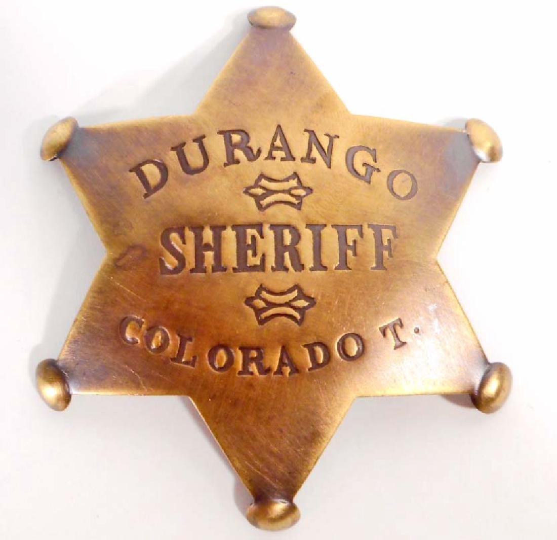 DURANGO COLORADO T. SHERIFF 6 POINT STAR BADGE