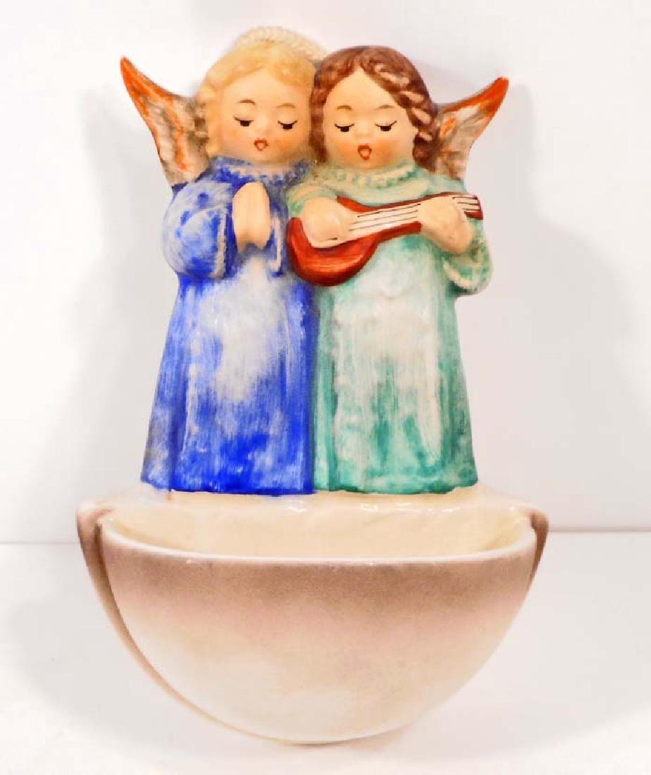 VINTAGE GOEBEL FIGURINE - ANGEL DUET HOLY WATER FONT