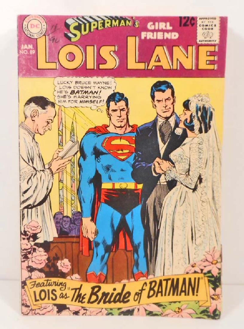 1969 LOIS LANE NO. 89 COMIC BOOK W/ 12 CENT COVER