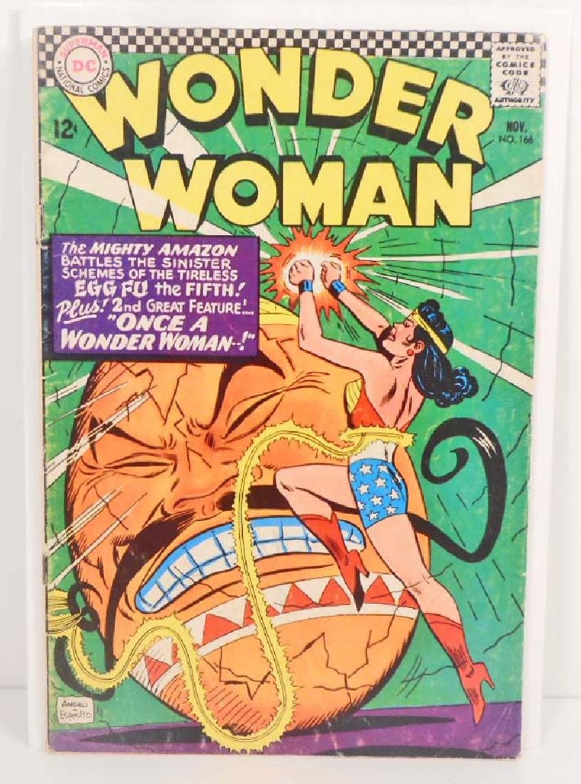 1966 WONDER WOMAN NO. 166 COMIC BOOK - 12 CENT COVER -
