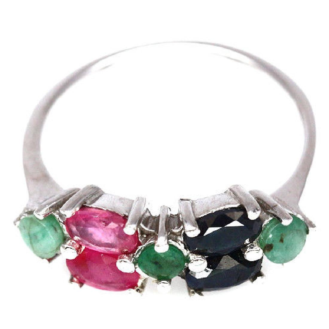 CHARMING! NATURAL! PINK RUBY, GREEN EMERALD &