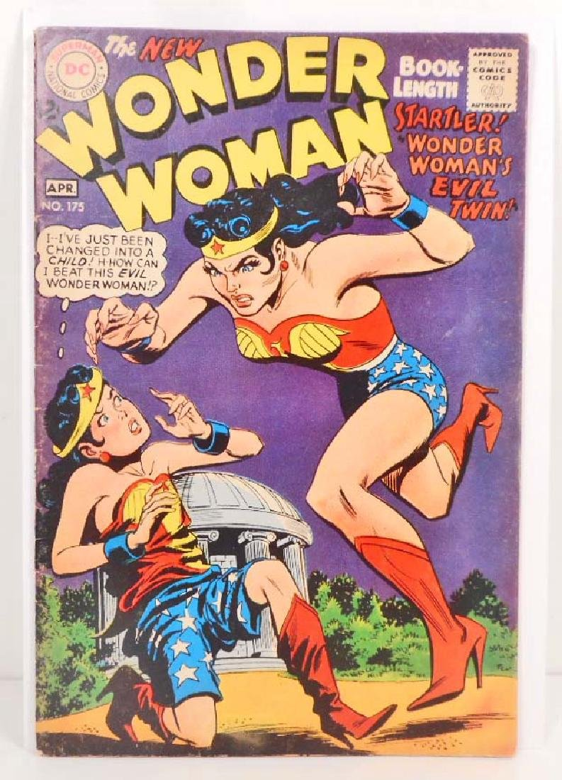 1968 WONDER WOMAN NO. 175 COMIC BOOK - 12 CENT COVER -