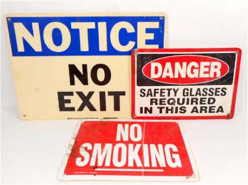 Lot Of 3 Vintage Signs