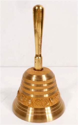 VINTAGE ORNATE BRASS BELL